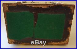 Coromandel wood vintage Victorian antique chest trinket / jewellery box