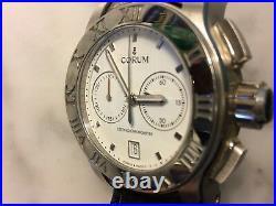 Corum Watch Mens Romvlvs Chronograph + Original Wooden Jewelry Display Case