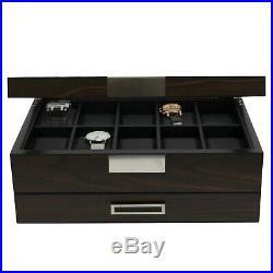 DECOREBAY Luxury Wooden Watch Valet Sunglasses Jewelry Box Men's Gift -Dearest