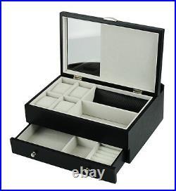 Decorebay Executive Mens Black Wood Valet Storage Organizer Men's Jewelry Box