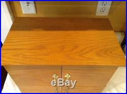 Deluxe Jewelry Box Chest Lori Greiner Oak Wood For Your Ease