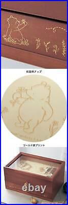 Disney Classic Pooh Natural Wood Accessory Case Jewelry Box Mini Pettit Chest