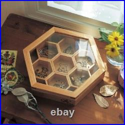 Disney Winnie the Pooh Accessory Jewerly Box Case Storage Honeycomb Hexagon F/S