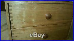 Dovecote Woodworking cherry jewelry fly tying chest beading 2 drawers box joints