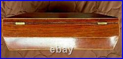 Early 19th C. Mahogany Veneer Document/Jewelry/Sewing Box, Inlays, Square Nails