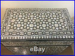 Egyptian Handmade Wood Jewelry Box Inlaid Mother of Pearl