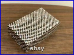 Egyptian Handmade Wood Jewelry Box Inlaid Mother of Pearl (8x5)