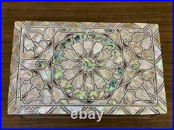Egyptian Handmade Wood Jewelry Box Inlaid Mother of Pearl (8x5.2)