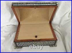 Egyptian Inlaid Treasure Mother of Pearl Paua Star Jewelry Box 10.4X7.5 #557
