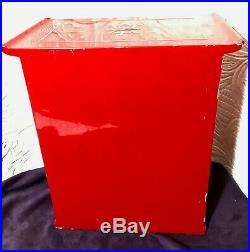 Enameled Wood Jewelry Box Red withMother of Pearl Inlay Vietnam War History 1966