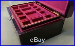English Antique Rosewood Jewellery Box Keepsake Box Collectors Box
