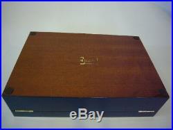 Ercolano Luxury Lacquered Wood Handmade Italian Jewelry Box Navy with Fish, New