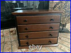 Ethan Allen American Impressions Solid Cherry & Black Jewelry Box