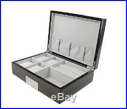 Executive High class Cufflink Case & Ring Storage Organizer Men's Jewelry Box