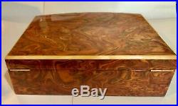 Extra Large Rainbow Burl Wood Jewelry Box