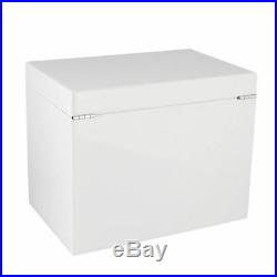 Extra Large Size White High Lacquer Jewellery Box with Luxury Lining by Aevitas