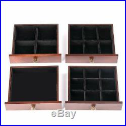 Extra Large Wooden Jewelry Box Cabinet Armoire Ring Necklacel Gift Storage Box