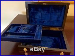 Fabulous coromandel wood antique English jewelry box