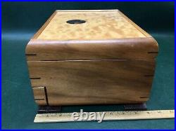 Fine Inlaid Mikutowski Woodworking Wooden Padded Jewelry Box Hand Crafted