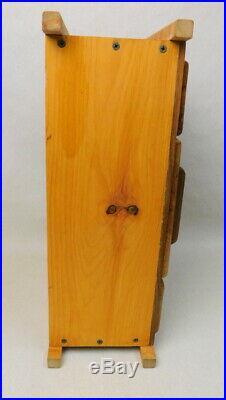 Fine hand made Dutch Amish Rustic Birdseye Maple wood jewelry box medium chest