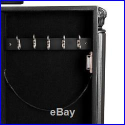Flip Top Mirrored Jewelry Cabinet Armoire Storage Box Chest Standing Organizer