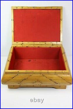 Folk Art Prison / Tramp Art Matchstick Dresser Jewelry Box