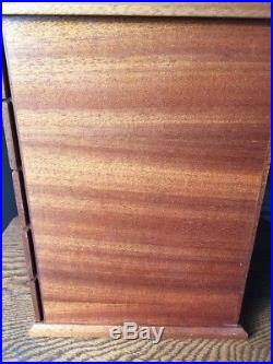 GUC Italian Agresti-Style Jewelry Chest Box Burl Wood 5 Drawer Lined Flaw
