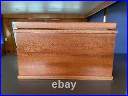 Genuine Agresti Jewelry Box Lacquered Burl Wood Florence Italy