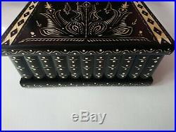 Giant jewelry storage puzzle box magic secret hidden drawer black wooden case