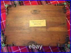 HENKEL HARRIS Jewelry CHEST Case Box, Virginia Galleries, 1968 Wild Black Cherry