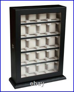 Hand Made Watch Jewelry Display Storage Holder Case Glass Box Organizer Gift twe