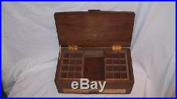 Handcrafted Large Walnut Jewelry Box with Quilted Maple Inlayed Top
