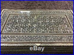 Handmade Beech Wood Jewelry Box Inlaid Mother of Pearl High Precision Inlay