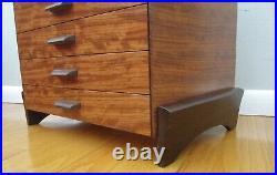 Handmade Bubinga Wenge wood jewelry chest box drawers Mikutowski wooden maple