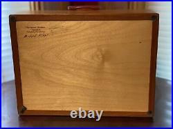 Handmade Cherry, Maple, & Bubinga Wood Jewelry Box by Michael Fisher Cascade I