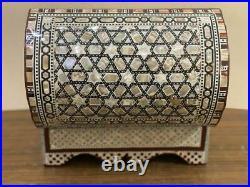 Handmade Wood Jewelry Box Inlaid Mother of Pearl (11.2x6.8)