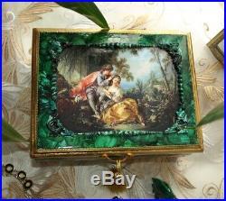 Handmade jewelry box hand-painted Malachite jewelry box