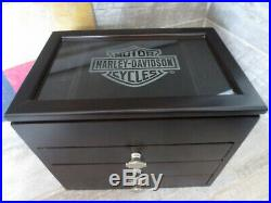 Harley Davidson Jewelry Box Wood Black