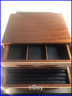 Heartwood Creations'Canyon 1' Style 7 Drawer Jewelry Box Factory Second