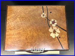 Heartwood Creations'Moon Flowers' Style 2 Drawer Jewelry Box Second Quality