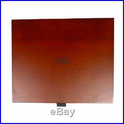 Hermes Jewelry Box Large Wooden Empty Four Drawer Wood Brown