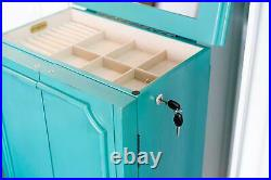 Hives & Honey Cabby Fully-Locking Jewelry Armoire Turquoise