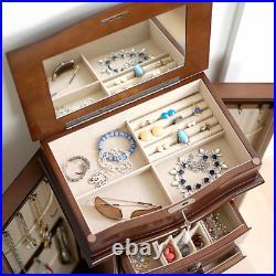Hives & Honey Jenny Freestanding Jewelry Armoire Walnut