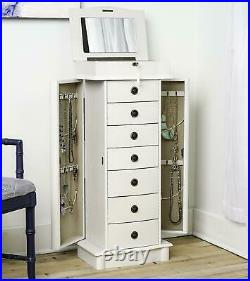 Hives & Honey Nora Standing Jewelry Armoire White