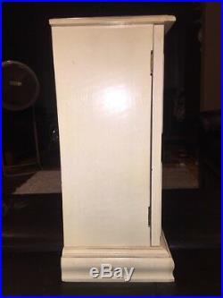 Huge Vintage Dresser Top Jewelry Box WithDoors And 3 Big Drawers&Mirror Must See