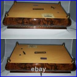 Italian Sorrento Inlaid Wood Lacquered Music Jewelry Box 18 note Swiss movement