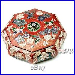 JAGAE Korean Traditional Mother-of-Pearl Multi-purpose Jewelry Box for Gift