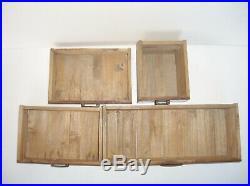 Japanese Sewing Jewelry Box Tansu Haribako Persimmon Wood Vintage