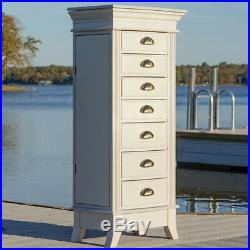 Jewelry Armoire Cabinet Storage Organizer Box Stand Mirrored Mirror Chest Wood