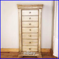 Jewelry Armoire Chest Box Standing Tall Storage Cabinet Stand Wood Organizer New